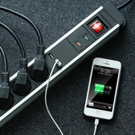 Arendo 5fach USB Steckdosenleiste Test